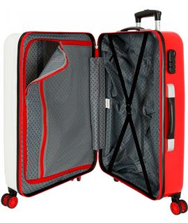 Maleta samsonite lite-shock cabina 55 cm 4 ruedas chili red - SAMSONITE-LITE-SHOCK-55-4R-ROJO
